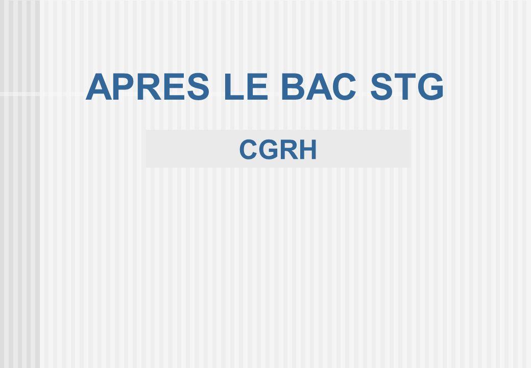 APRES LE BAC STG CGRH 19