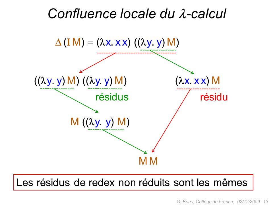 Confluence locale du -calcul