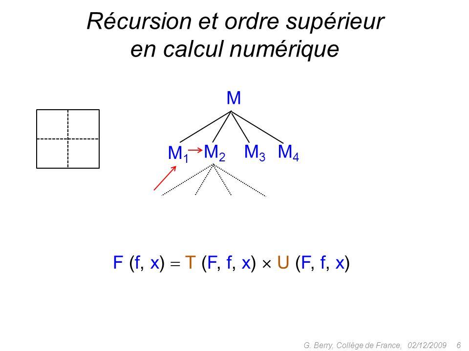 Récursion et ordre supérieur en calcul numérique