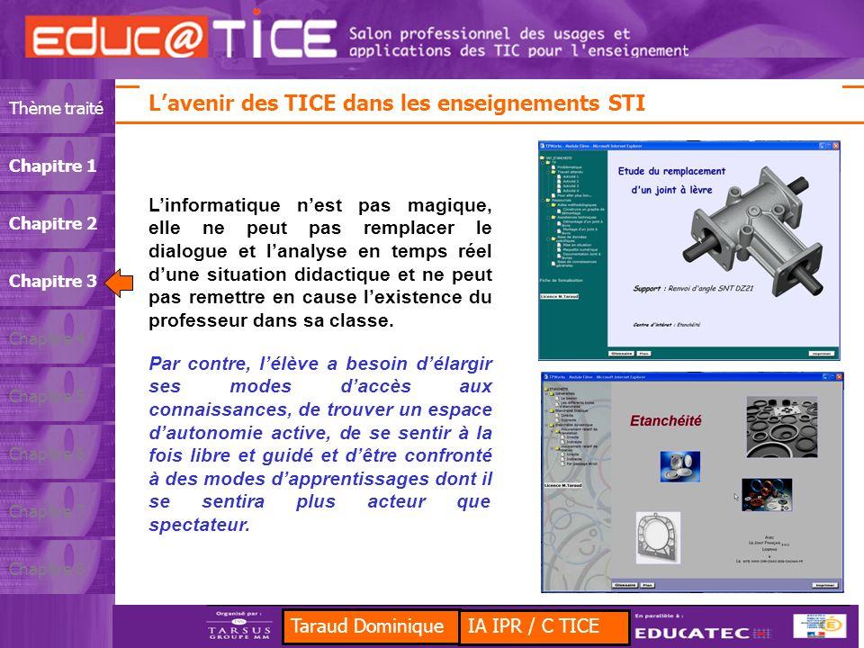 L'avenir des TICE dans les enseignements STI