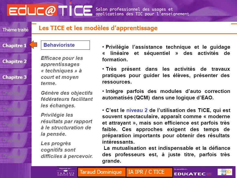 Les TICE et les modèles d'apprentissage