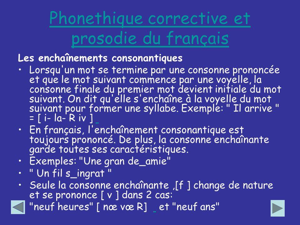 Phonethique corrective et prosodie du français