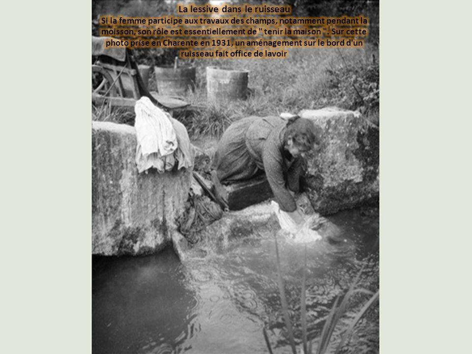 La lessive dans le ruisseau