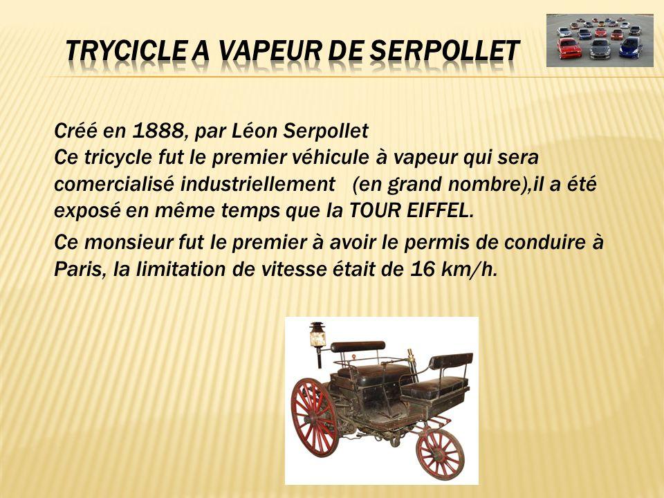 TRYCICLE A VAPEUR DE SERPOLLET