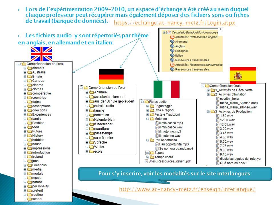 Pour s'y inscrire, voir les modalités sur le site interlangues: