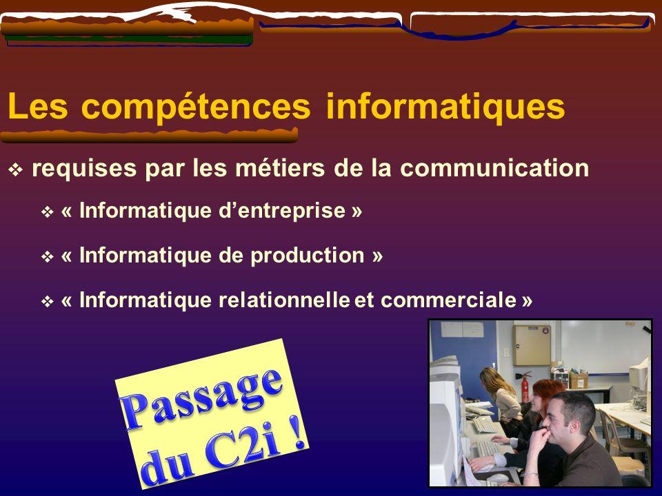 Passage du C2i ! Les compétences informatiques