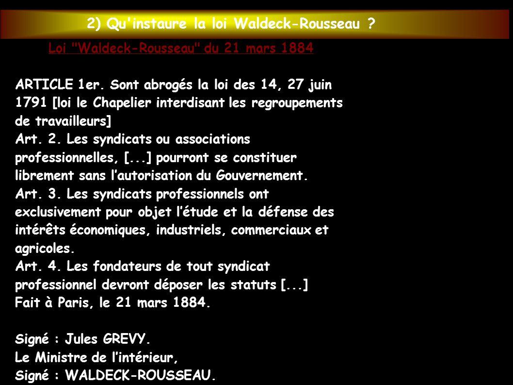 Loi Waldeck-Rousseau du 21 mars 1884