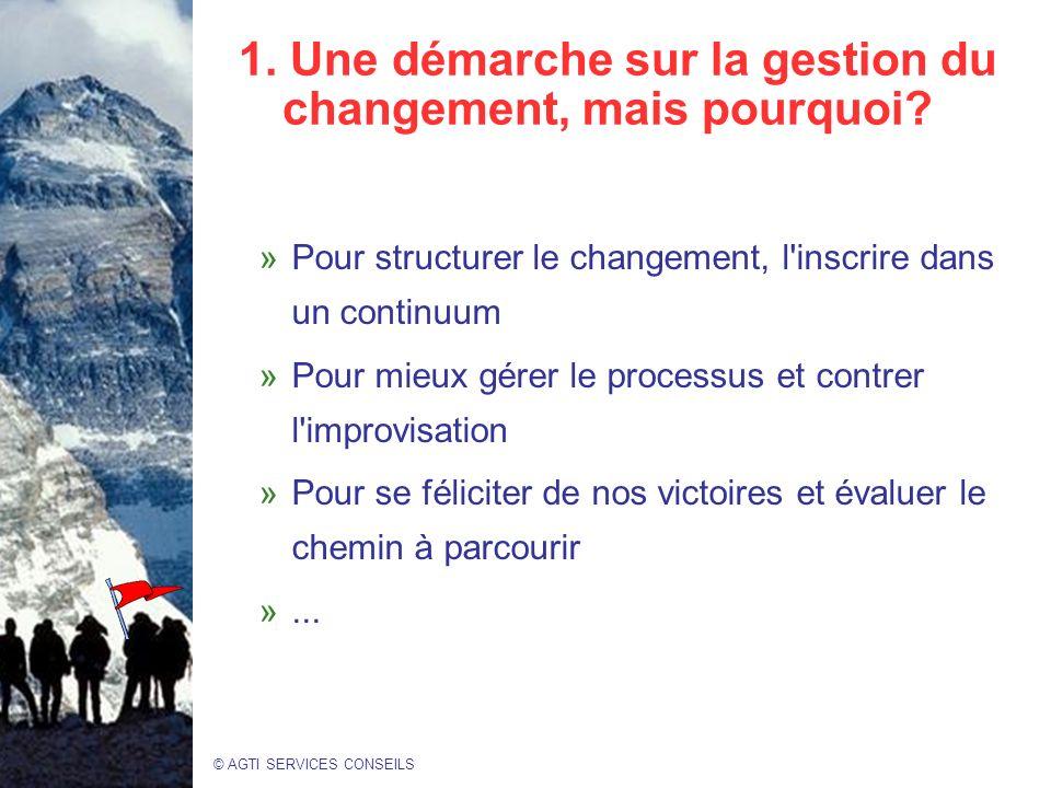 1. Une démarche sur la gestion du changement, mais pourquoi