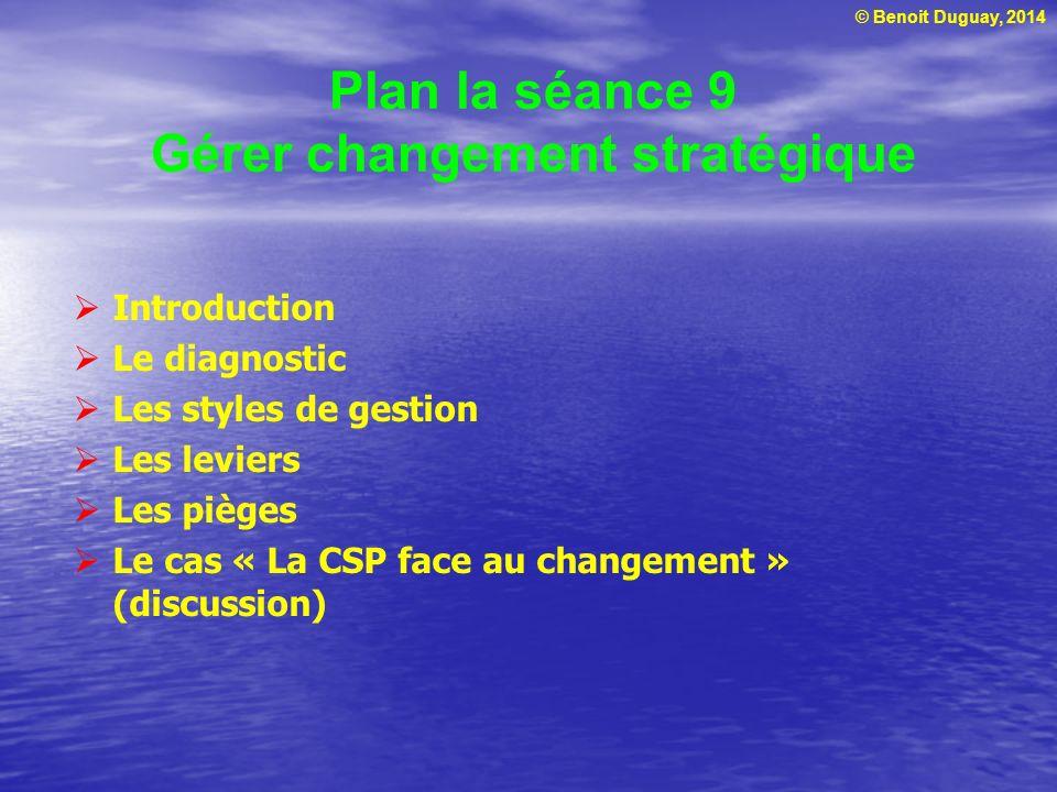 Plan la séance 9 Gérer changement stratégique