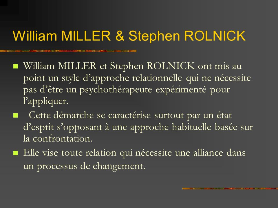 William MILLER & Stephen ROLNICK
