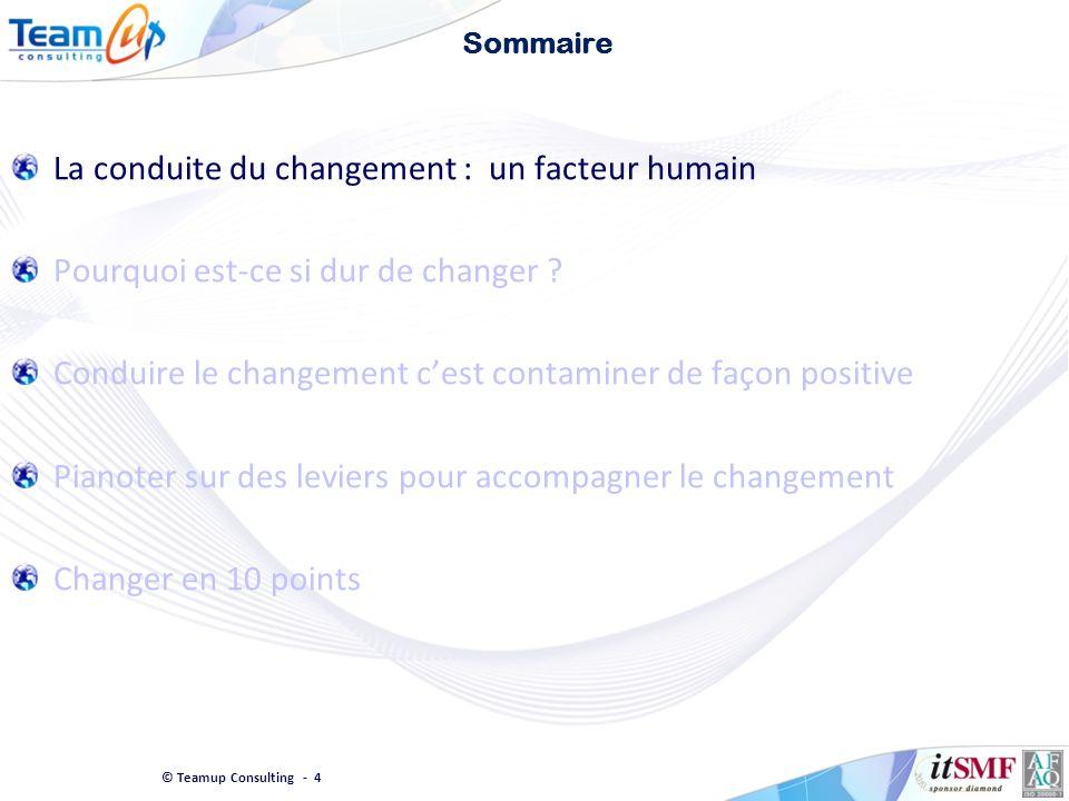 La conduite du changement : un facteur humain