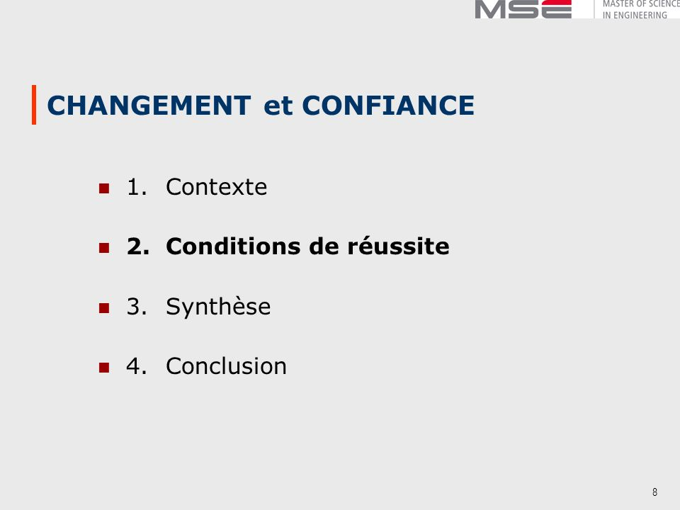 CHANGEMENT et CONFIANCE