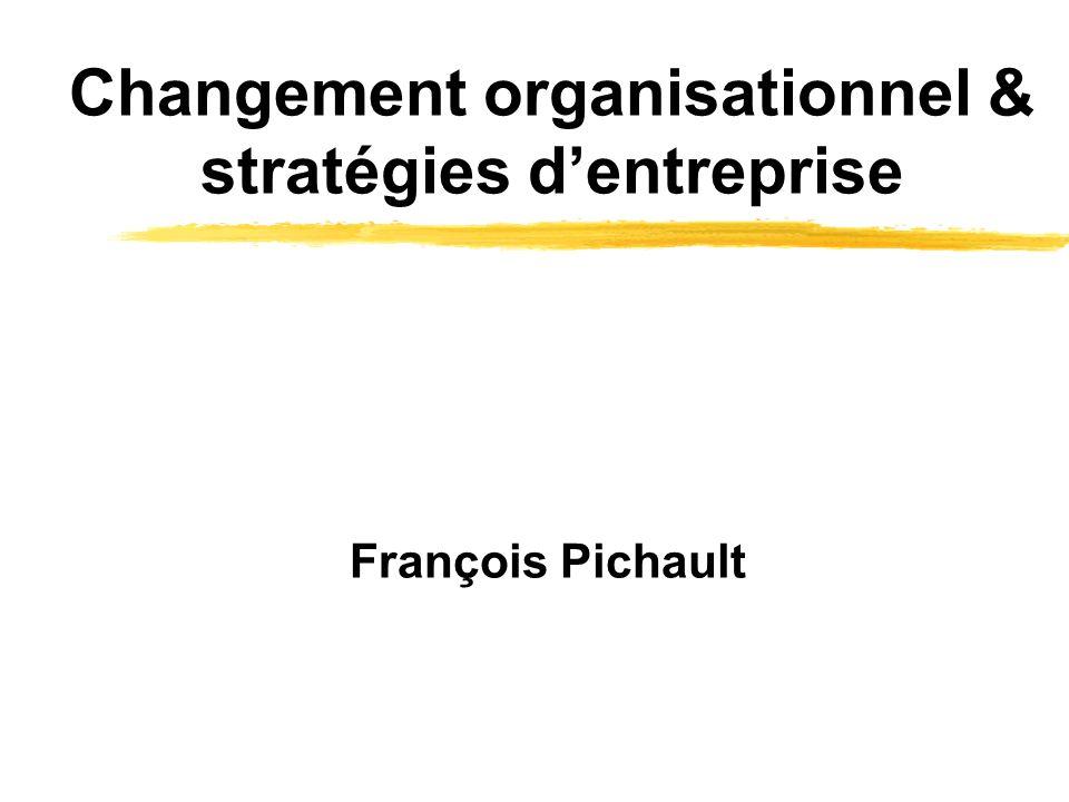 Changement organisationnel & stratégies d'entreprise