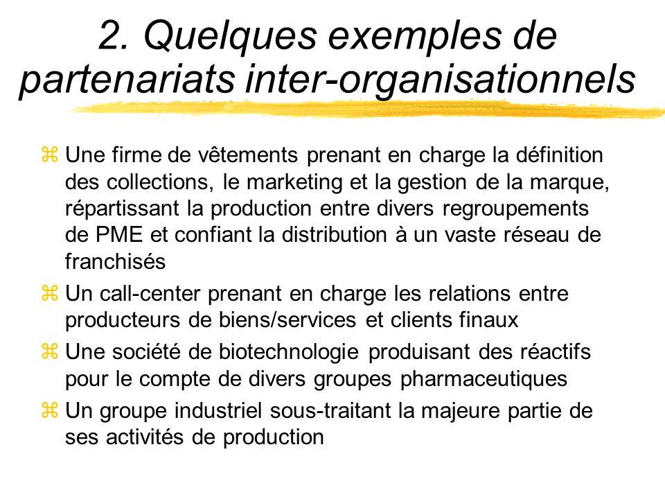 2. Quelques exemples de partenariats inter-organisationnels