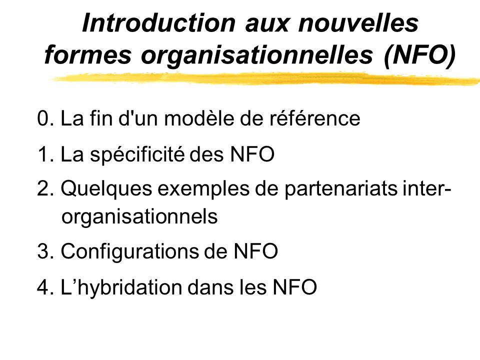 Introduction aux nouvelles formes organisationnelles (NFO)