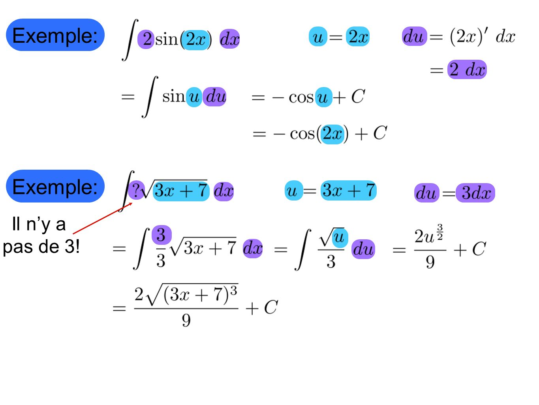 Exemple: Exemple: Il n'y a pas de 3!
