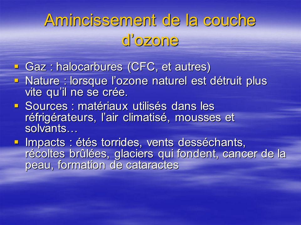 Amincissement de la couche d'ozone