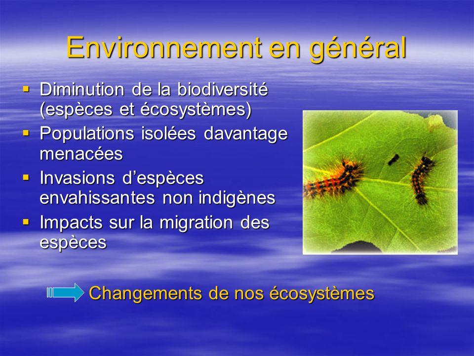 Environnement en général