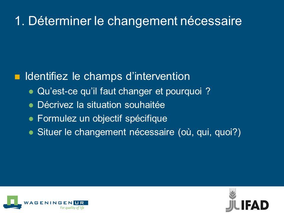 1. Déterminer le changement nécessaire