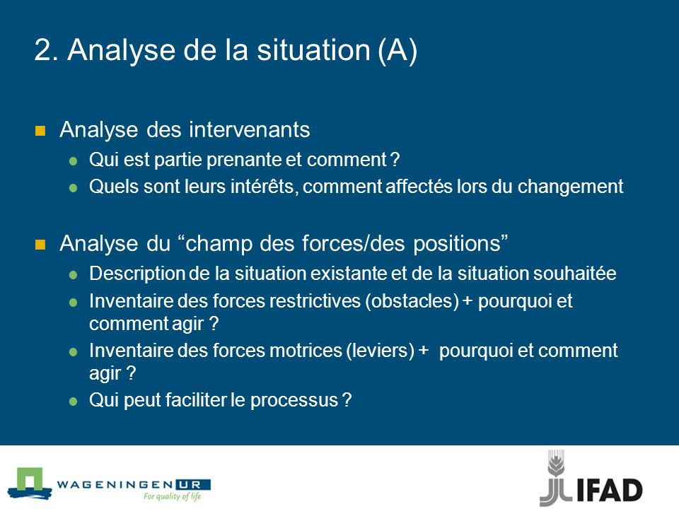 2. Analyse de la situation (A)
