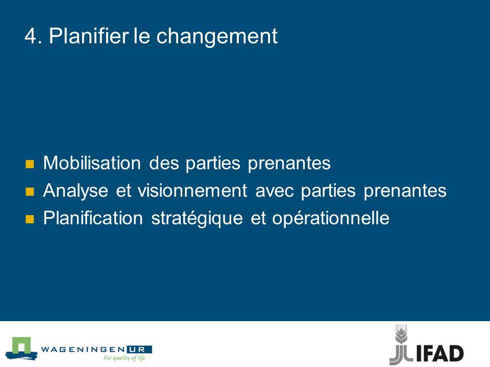4. Planifier le changement