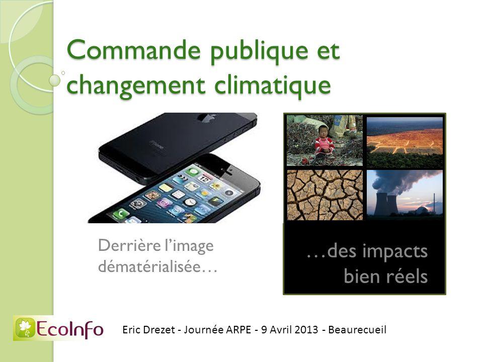 Commande publique et changement climatique