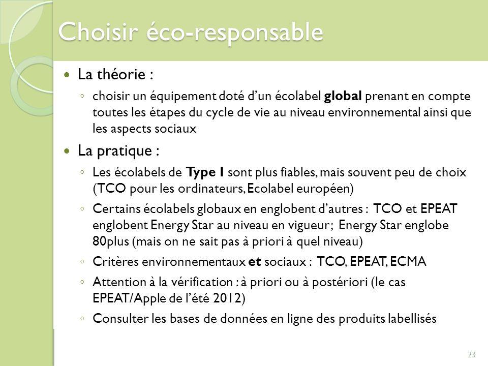 Choisir éco-responsable