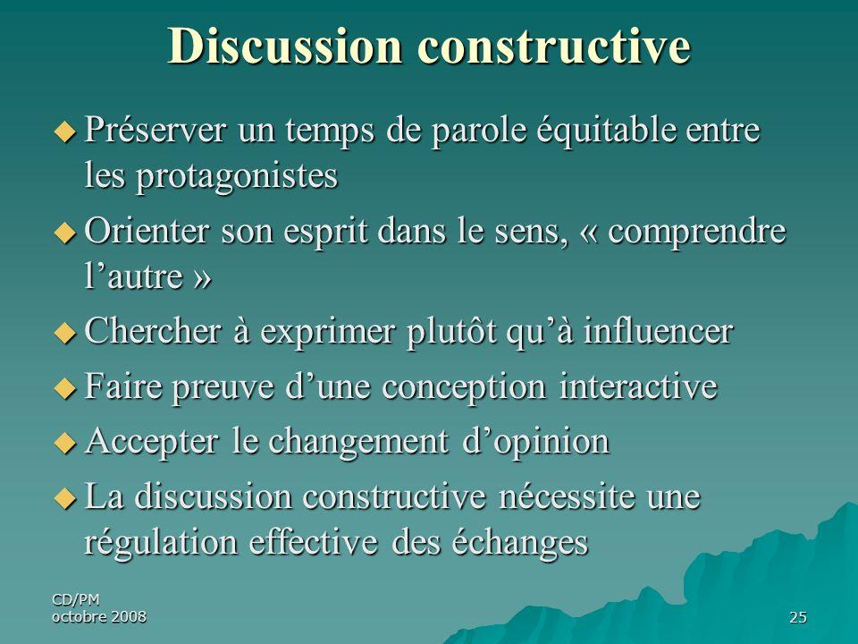 Discussion constructive