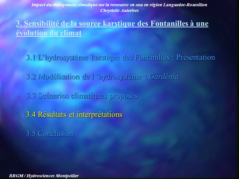 BRGM / Hydrosciences Montpellier