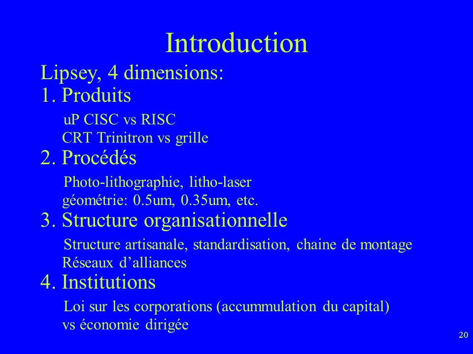 Introduction Lipsey, 4 dimensions: