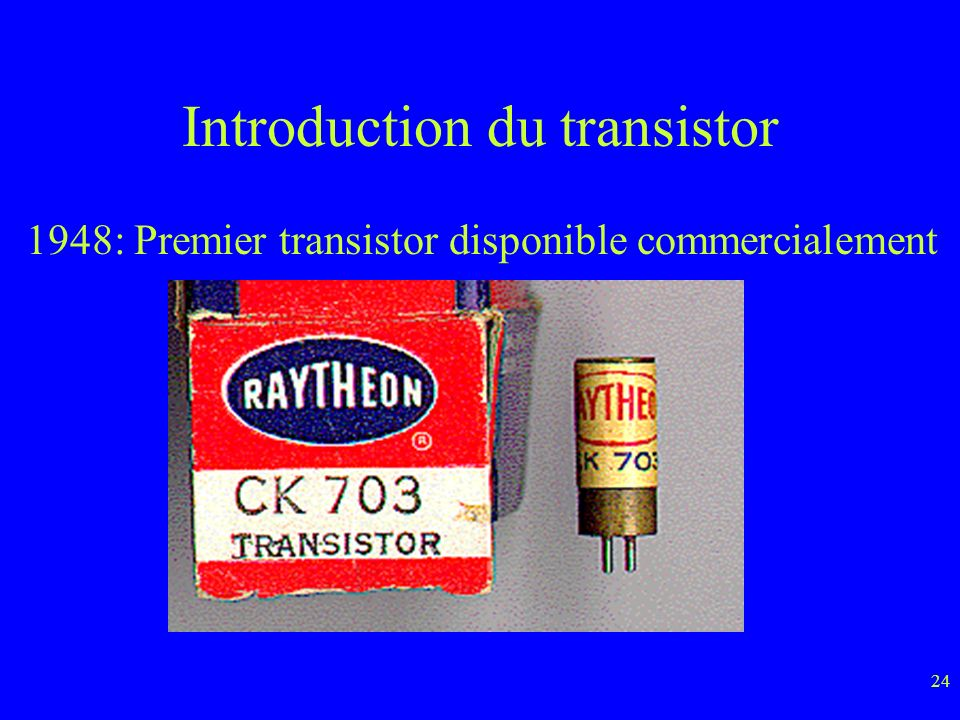 Introduction du transistor