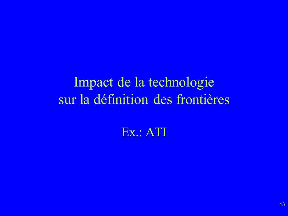 Impact de la technologie sur la définition des frontières