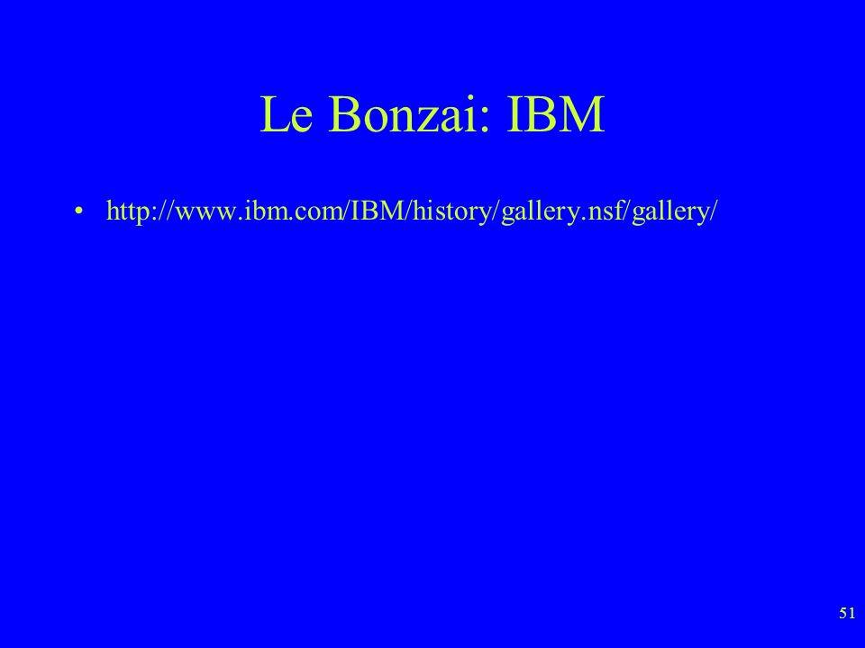 Le Bonzai: IBM http://www.ibm.com/IBM/history/gallery.nsf/gallery/