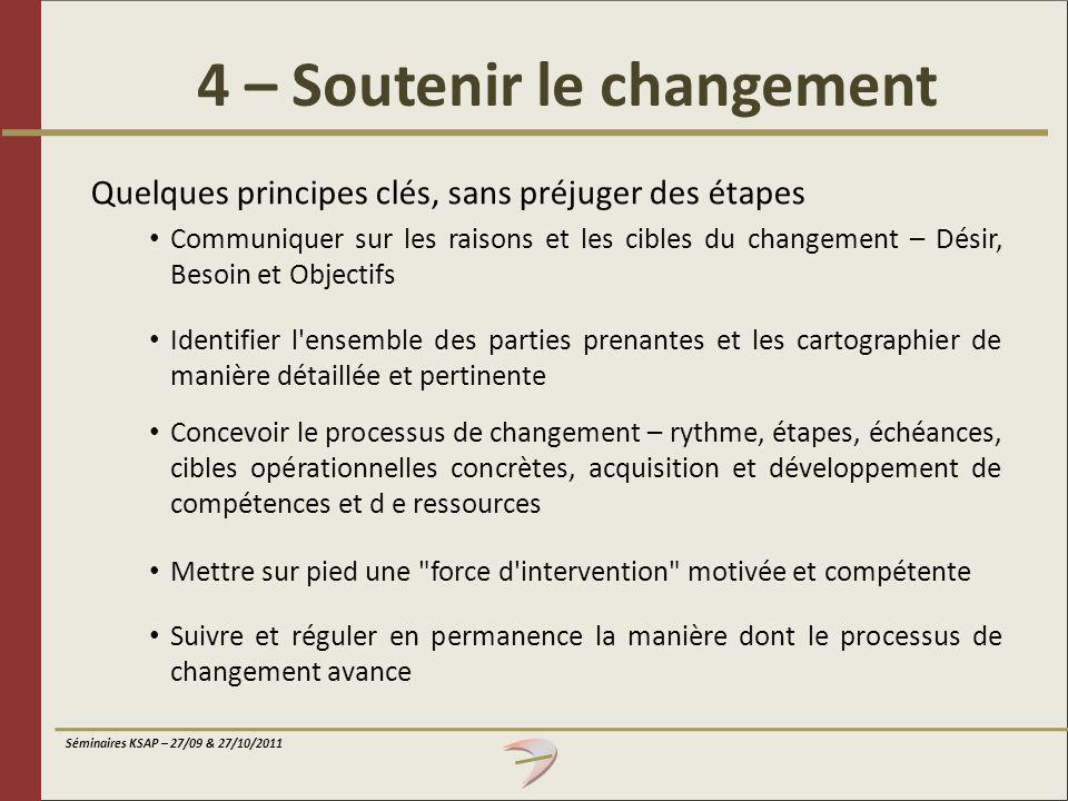 4 – Soutenir le changement