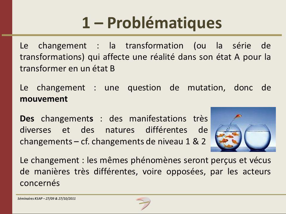 1 – Problématiques