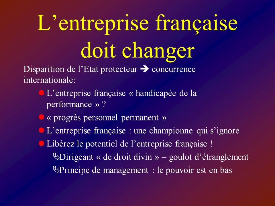 L'entreprise française doit changer