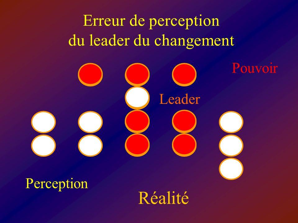 Erreur de perception du leader du changement