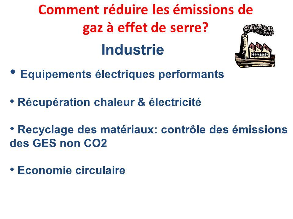Comment réduire les émissions de