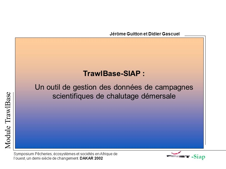 Jérôme Guitton et Didier Gascuel