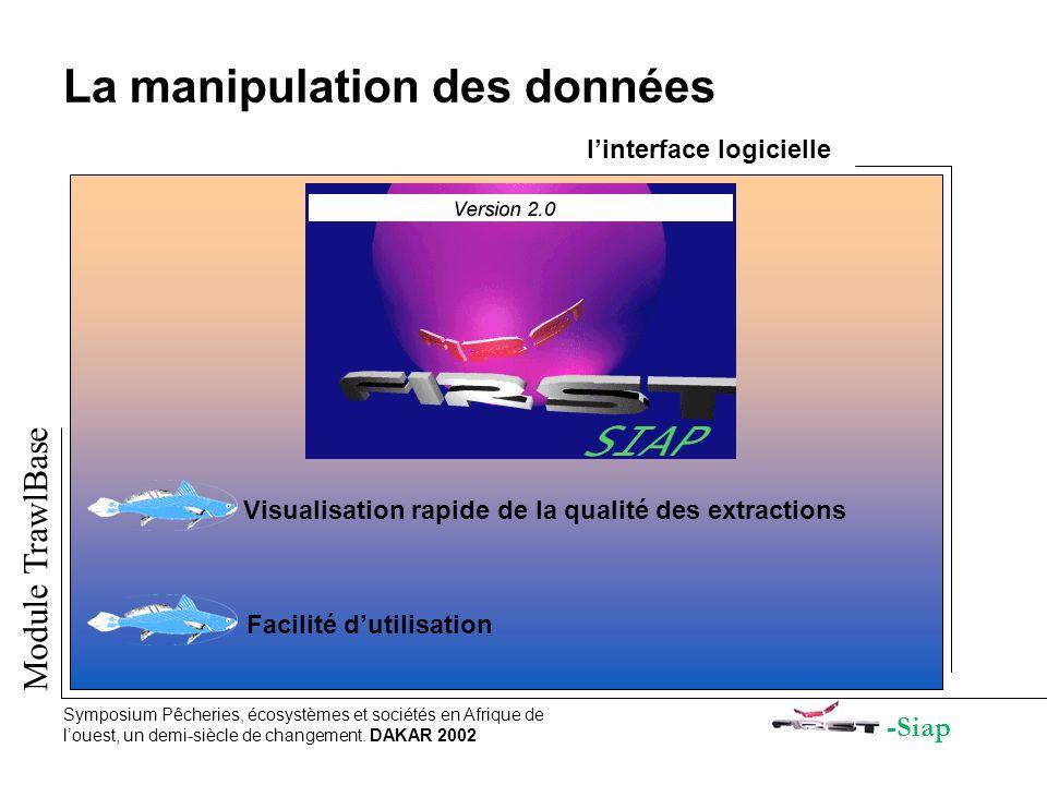La manipulation des données l'interface logicielle