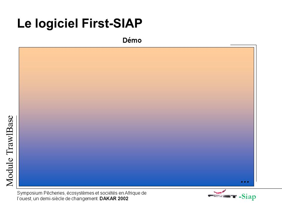 Le logiciel First-SIAP Démo