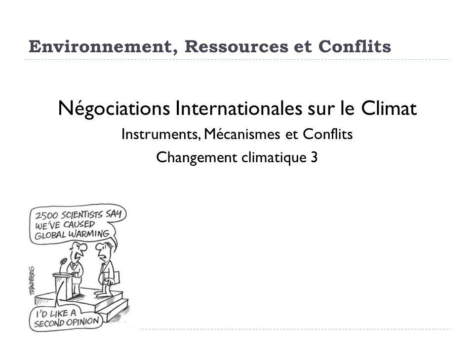 Environnement, Ressources et Conflits
