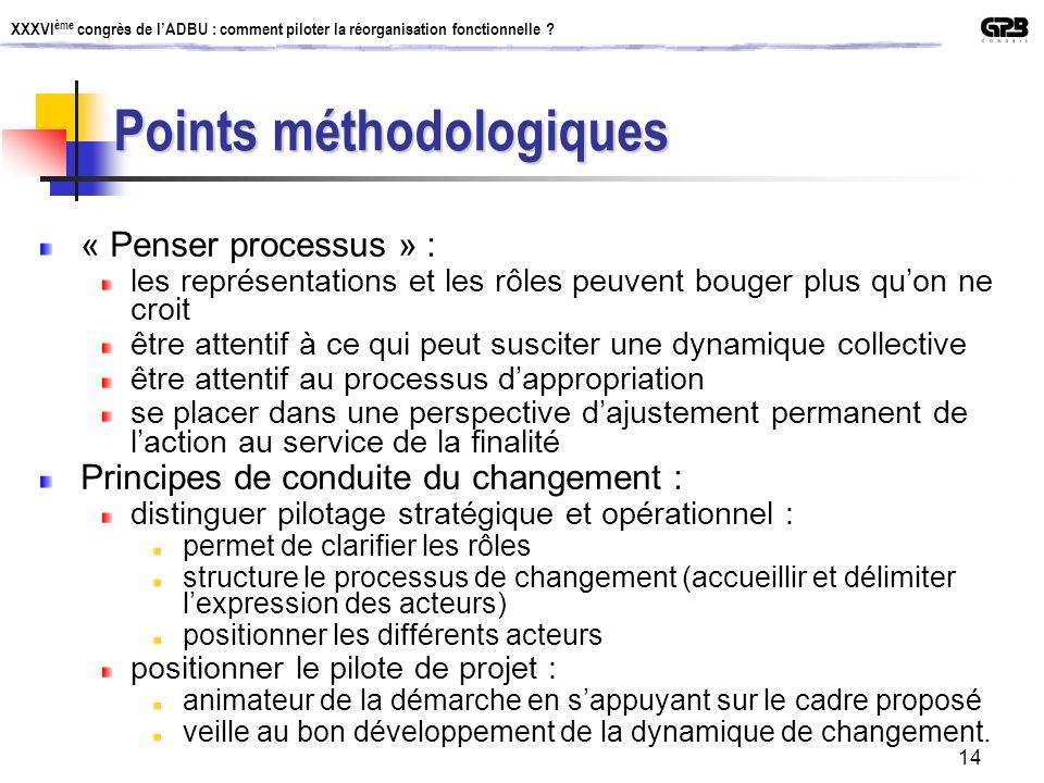Points méthodologiques
