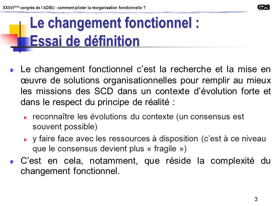 Le changement fonctionnel : Essai de définition