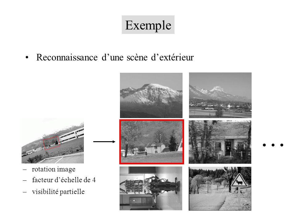 … Exemple Reconnaissance d'une scène d'extérieur rotation image