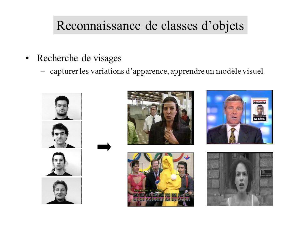 Reconnaissance de classes d'objets