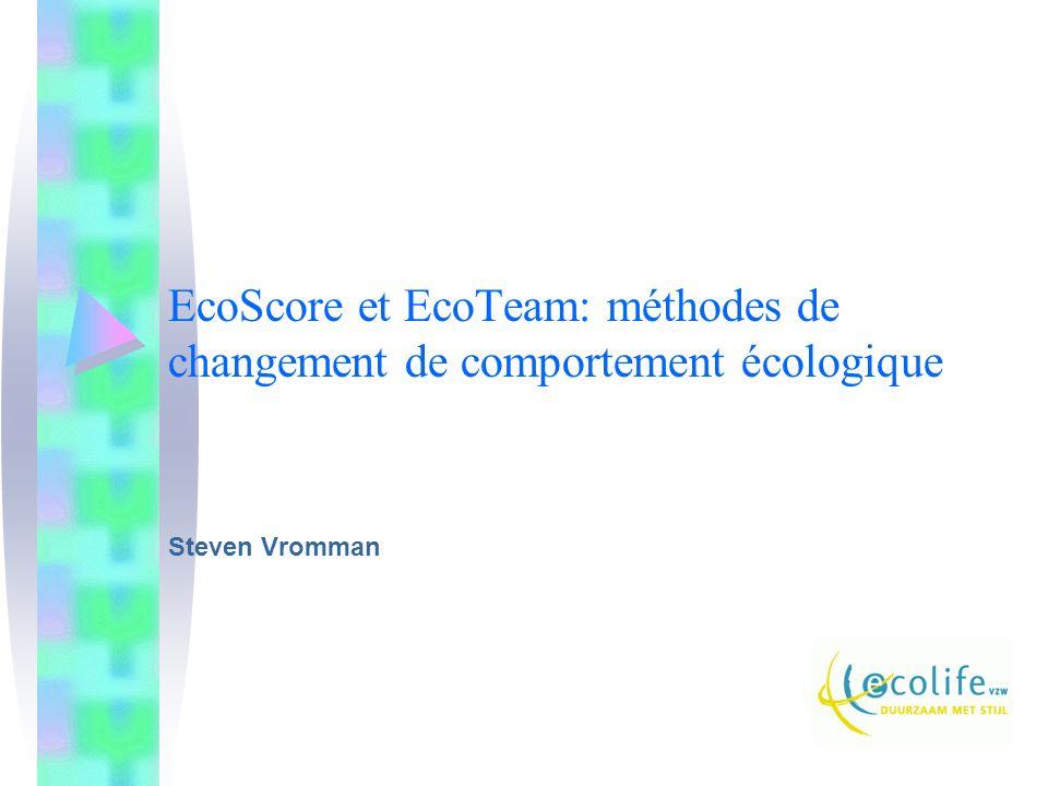 EcoScore et EcoTeam: méthodes de changement de comportement écologique