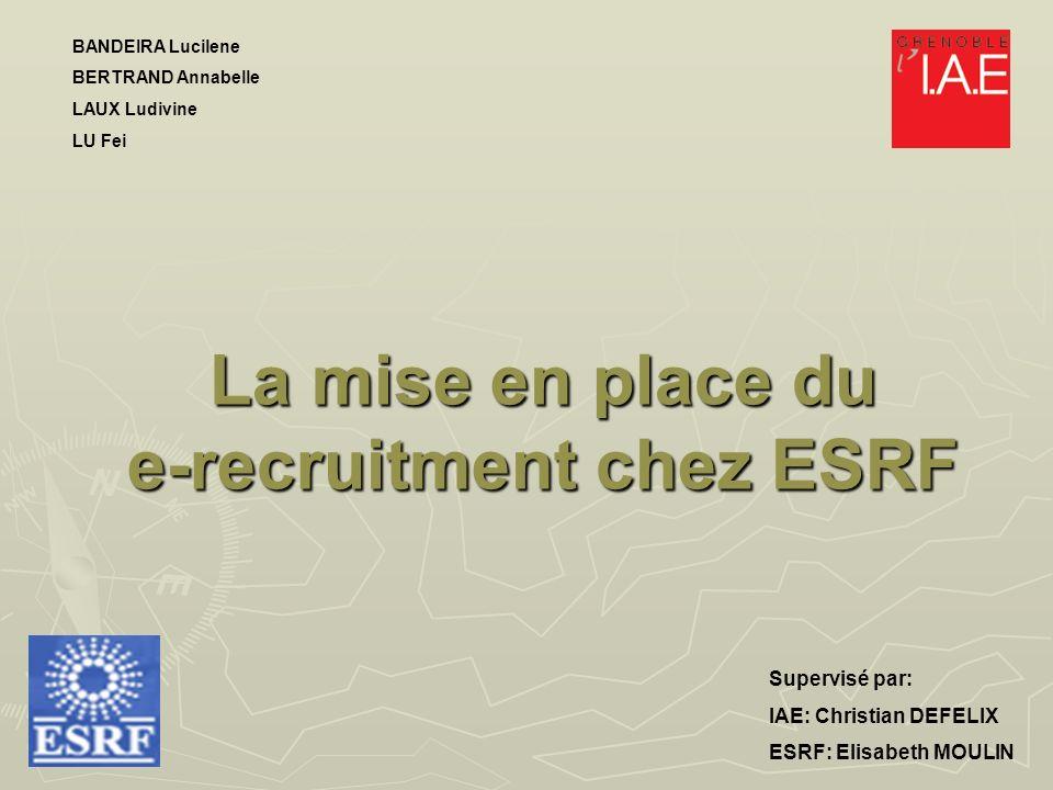 La mise en place du e-recruitment chez ESRF