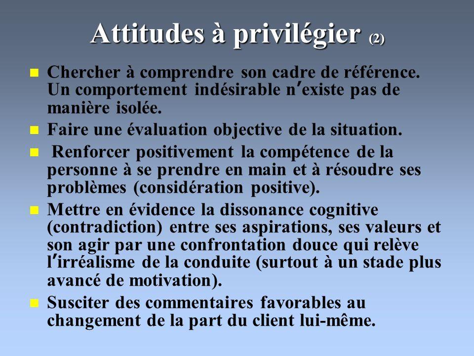 Attitudes à privilégier (2)