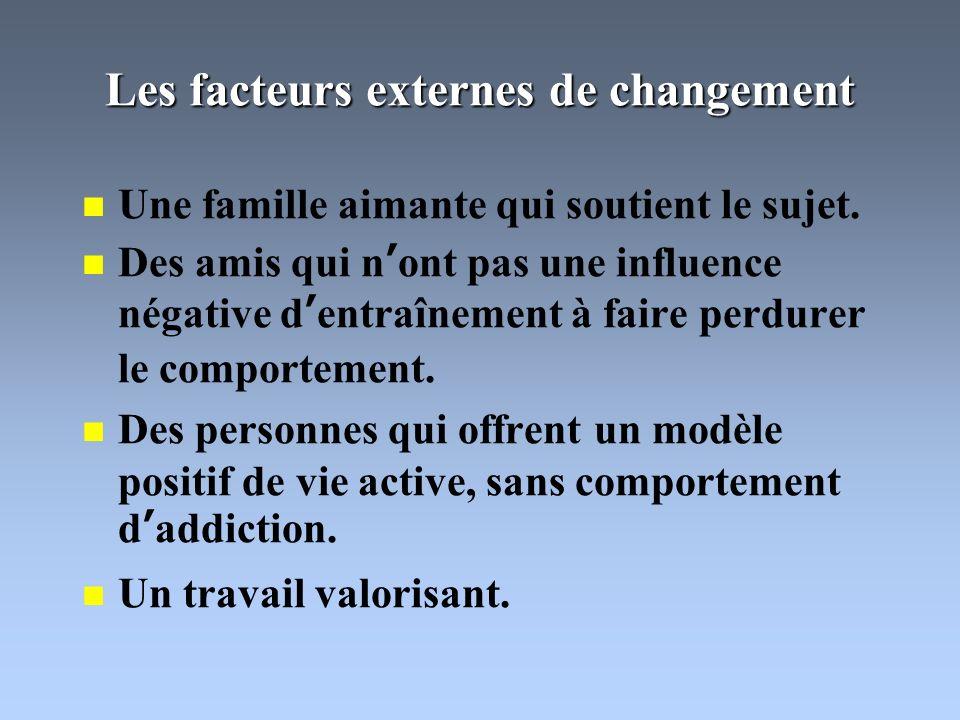Les facteurs externes de changement